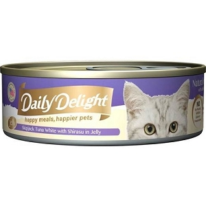 Daily Delight Canned Skipjack Tuna White with Shirasu in Jelly Cat Food