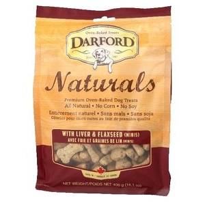Darford Naturals Liver & Flaxseed Minis Oven Baked Dog Treats 400gm