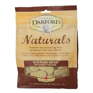 Darford Naturals Peanut Butter Oven Baked Dog Treats 400gm