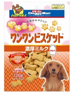 Doggyman Bowwow Soft Biscuit with Milk 120g