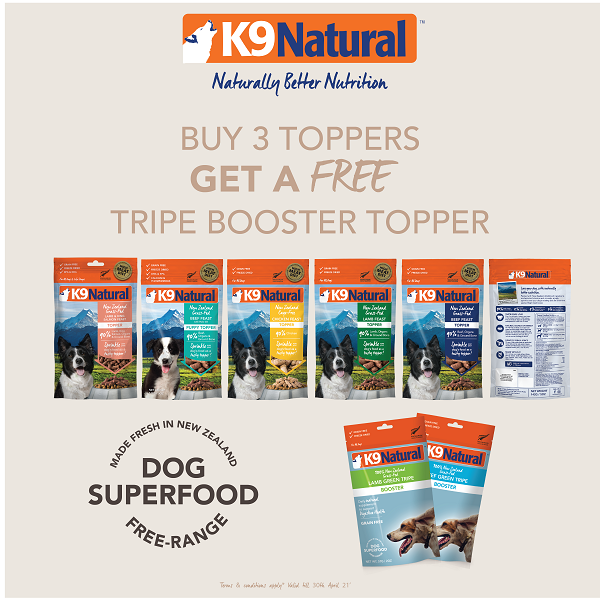 [April 2021 Promo - Buy 3 Free 1] K9 Natural Freeze Dried Topper