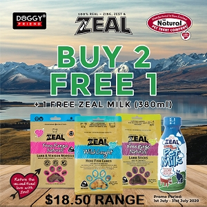 [JULY 2020 PROMO - Buy 2 Free 1 with Free 380ml Milk] Zeal Free Range Naturals Treats Mix & Match