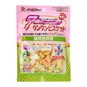 Doggyman Bowwow Soft Biscuit Green & Yellow Vegetable 140gm