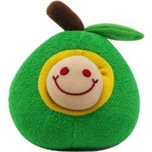 DOGIT Luvz Fruit & Worm Green Apple Toy