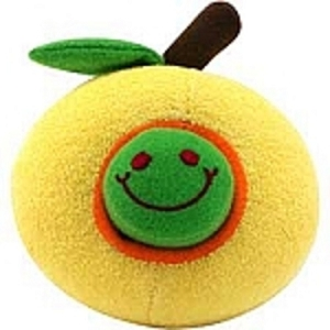 DOGIT Luvz Fruit & Worm Yellow Apple Toy