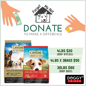 DONATE to make a Difference - Canidae Dog Food