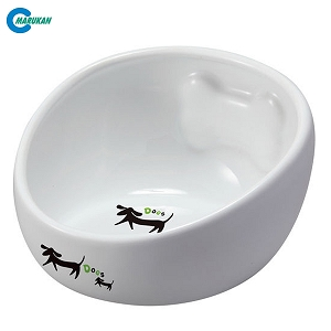Marukan Bone Shaped Ceramic Bowl for Dogs