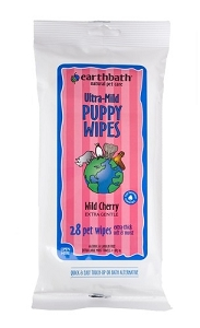 EarthBath Cherry Fragrance Puppy Travel Wipes 28pcs
