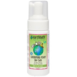 EarthBath Green Tea Leaf Essence Waterless Grooming Foam For Cats