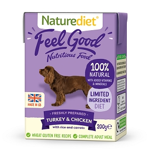 Naturediet Feel Good Dog Food - Turkey & Chicken