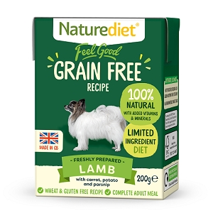 Naturediet Feel Good Grain Free Dog Food - Lamb