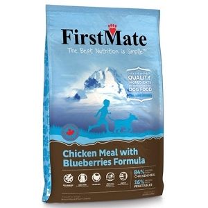 FirstMate Grain Free Chicken Meal with Blueberries Formula Normal Bites Dry Dog Food