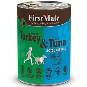 FirstMate Grain & Gluten Free 50/50 Canned Free Run Turkey with Wild Tuna Formula
