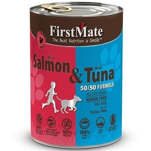 FirstMate Grain & Gluten Free 50/50 Canned Wild Salmon & Wild Tuna Formula