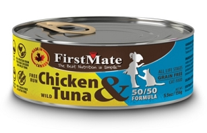 FirstMate Grain & Gluten Free Canned 50/50 Free Run Chicken & Wild Tuna Formula Cat Food