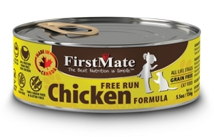 FirstMate Grain & Gluten Free Canned Free Run Chicken Cat Food
