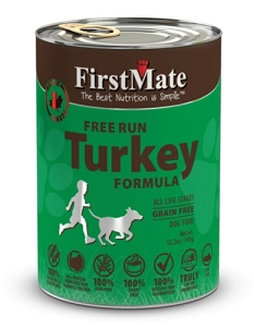 FirstMate Grain & Gluten Free Canned Free Run Turkey Formula