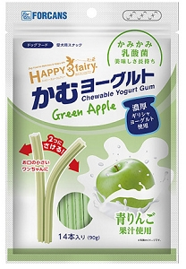 FORCANS Happy 3 Fairy Yogurt Gum - Green Apple 90g