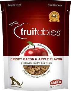 Fruitables Crispy Bacon & Apple Flavor Crunchy Dog Treats 7oz
