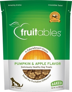 Fruitables Pumpkin & Apple Flavour Crunchy Dog Treats 7oz