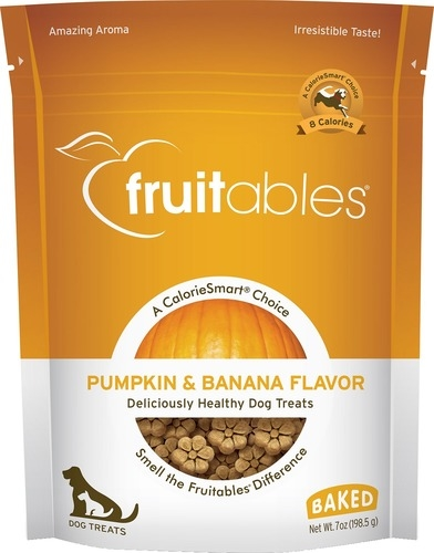 Fruitables Pumpkin & Banana Flavour Crunchy Dog Treats 7oz