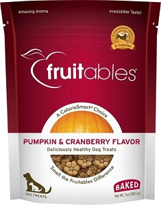 Fruitables Pumpkin & Cranberry Flavour Crunchy Dog Treats 7oz