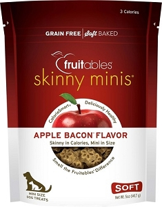 Fruitables Skinny Minis Apple Bacon  Flavour Soft & Chewy Dog Treats 5oz