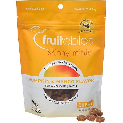 Fruitables Skinny Minis Pumpkin & Mango Flavour Soft & Chewy Dog Treats 5oz