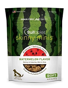 Fruitables Skinny Minis Watermelon Flavor Soft & Chewy Dog Treats 5oz