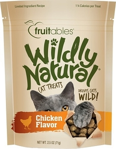 Fruitables Wildly Natural Chicken Flavour Cat Treats