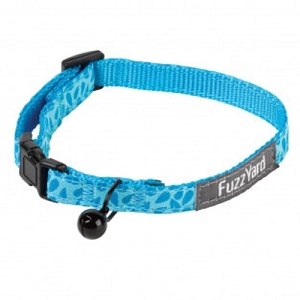 FuzzYard Birds of a Feather Blue Cat Collar