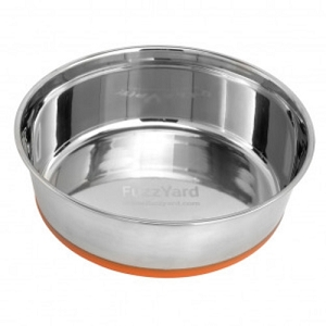 FuzzYard Orange Stainless Steel Bowl
