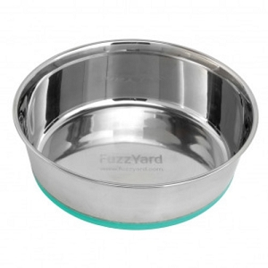FuzzYard Teal Stainless Steel Bowl