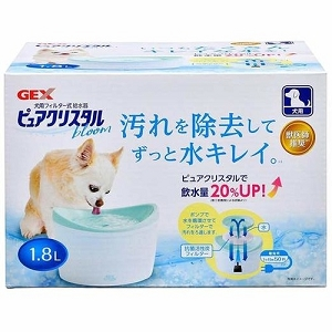 GEX Pure Crystal Bloom Drinking Fountain for Dogs 1.8L & 2.3L