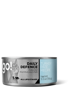 GO! DAILY DEFENCE Canned Turkey Pâté Recipe Cat Food