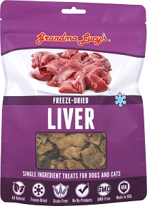 Grandma Lucy's Singles Freeze Dried Chicken Liver Dog Treats
