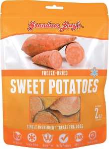Grandma Lucy's Singles Freeze Dried Sweet Potatoes Dog Treats