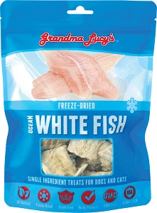 Grandma Lucy's Singles Freeze Dried White Fish Dog Treats