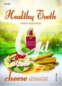 Greedy Dog Healthy Teeth Cheese Dog Treat