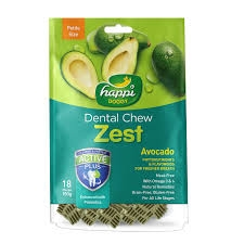 Happi Doggy Dental Chew - Zest Petite Avocado 2.5inch