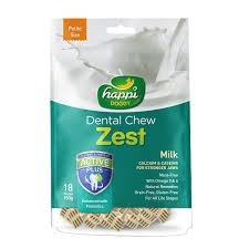 Happi Doggy Dental Chew Zest Petite Milk 2.5inch