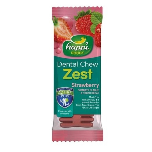 Happi Doggy - ZEST - Strawberry 4inch (50pcs/box)