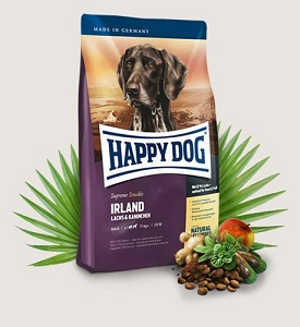 HAPPY DOG Supreme Sensible Irland Salmon & Rabbit Dry Dog Food