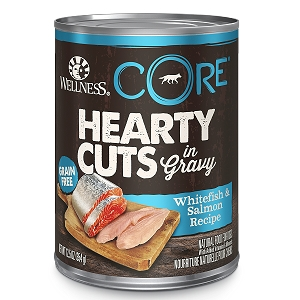Wellness Hearty Cuts In Gravy Whitefish & Salmon Canned Dog Food
