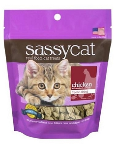 Herbsmith Sassy Freeze Dried Chicken, Apples & Spinach Cat Treats 1.25oz