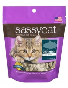 Herbsmith Sassy Freeze Dried Wild-Caught Whitefish Cat Treats 0.88oz