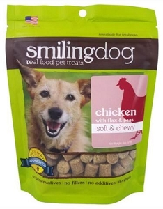 Herbsmith Soft & Chewy Chicken with Flax & Peas Dog Treats 8oz