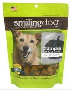 Herbsmith Soft & Chewy Pumpkin with Flax & Cinnamon Dog Treats 8oz