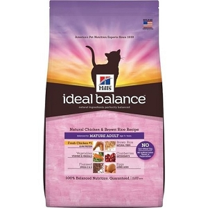 Hill's™ Ideal Balance™ Natural Chicken & Brown Rice Recipe Mature Adult Dry Cat Food
