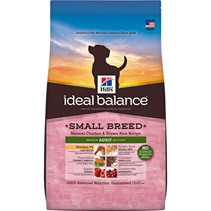Hill's Ideal Balance Natural Chicken & Brown Rice Recipe Adult Small Breeds Dry Dog Food